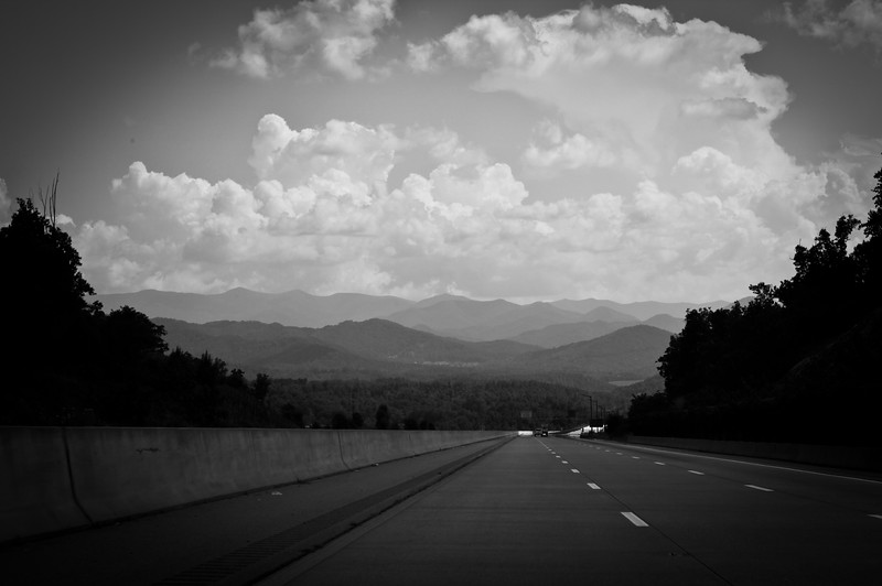 Outside of Asheville, North Carolina.