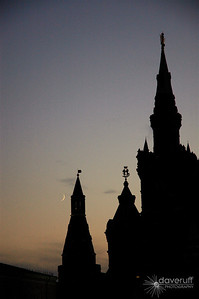 Moscow Red Square at Dusk.