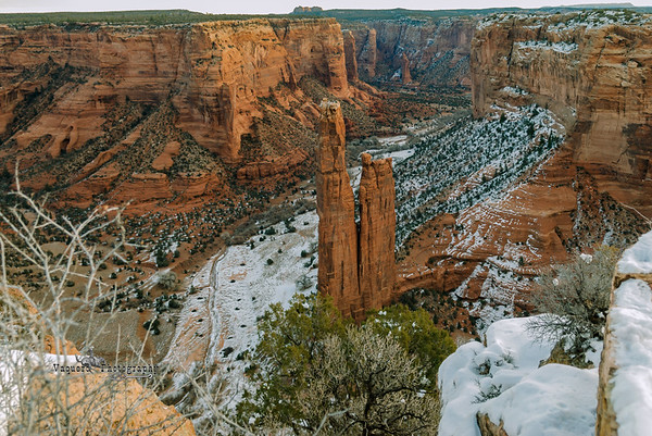 Spider Rock In Canyon De Chelly, Chinle AZ (17 December 2007)