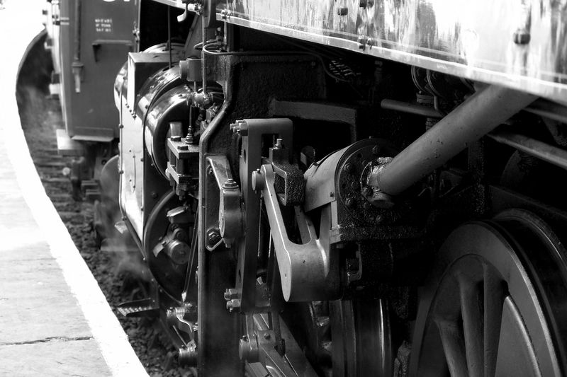 An steam train engine prepares for departure at Pickering on the North York Moors, UK. Taken 26th of June 2004.