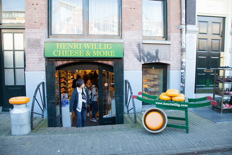 A cheese shop in Amsterdam. No need to say 'cheese' in this photo!