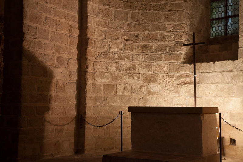 Indoor chapel in Mont Ste. Michel.