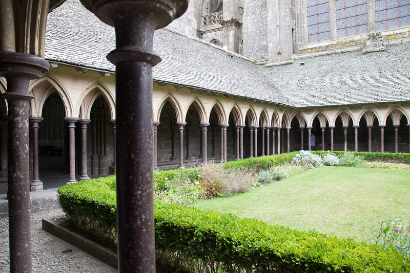 Cloisters at Mont Ste. Michel.