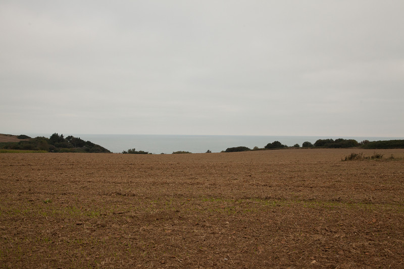 The view from the Longues-sur-Mer battery toward the sea. Imagine the thousands of warships arriving on D-Day.