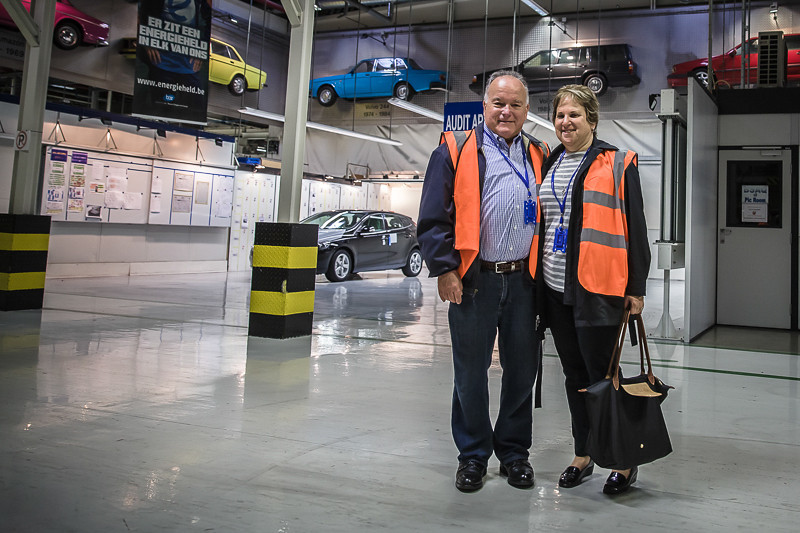 Volvo's car plant in Ghent. We had a wonderful private tour of the plant where all of the series 60 and below models are made.