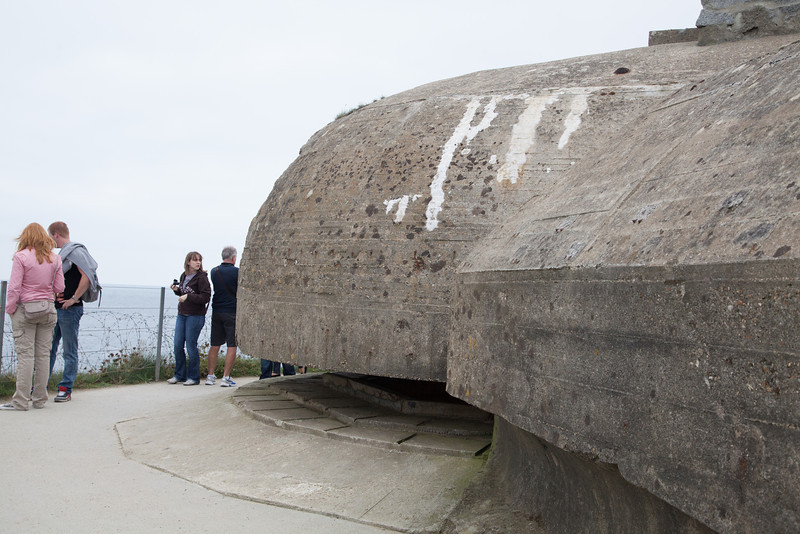 Armed German lookouts overlooking the English Channel.