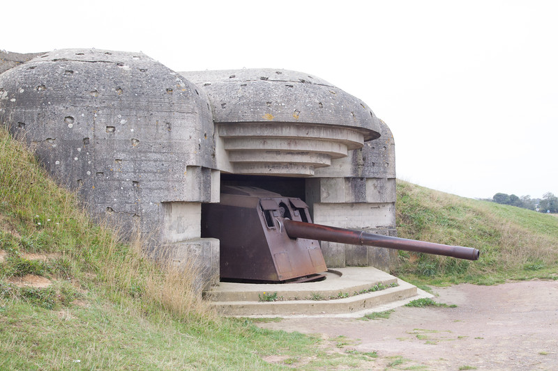The Germans built these impressive gun emplacements over a two year period prior to D-Day.