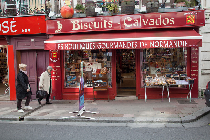 Everything seemed scrumptious at this small regional food shop in Honfleur.