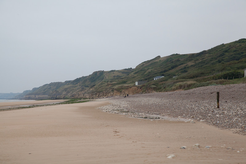 Today, Omaha Beach is a peaceful area with summer resorts nearby. But, on June 6, 1944 this was a living hell as American soldiers sought to move across the beach and up through the hills.