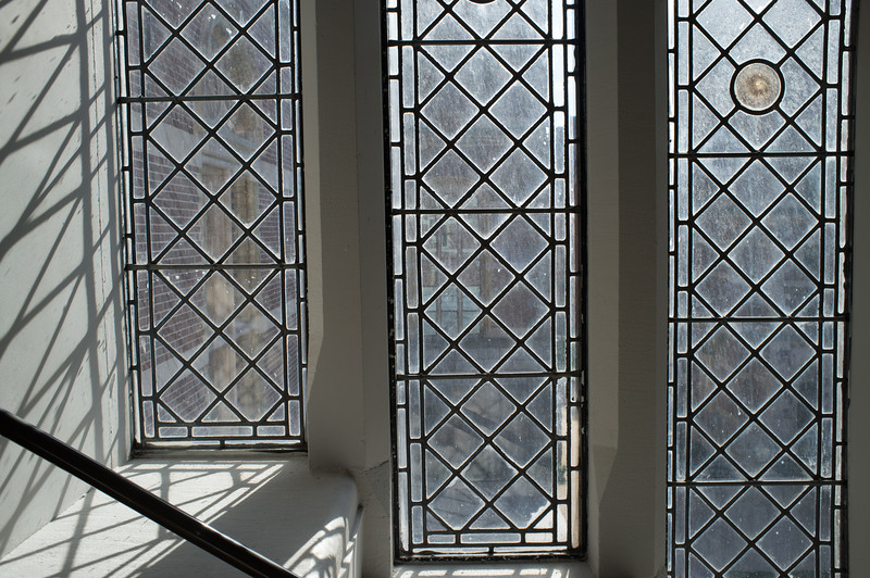 Beautiful windows in the Rijksmuseum.