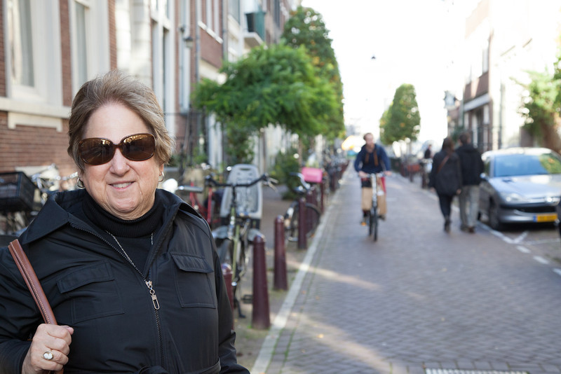 Henriette in Amsterdam.