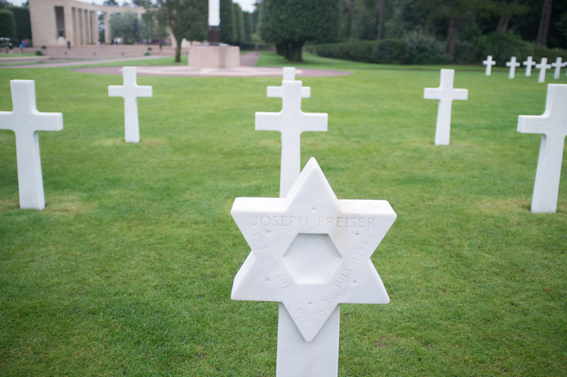 American cemetery at Colleville-sur-Mer. 9,387 young soldiers are buried here including 307 unknowns.