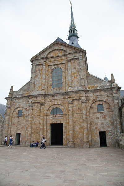 At the pinnacle of the Mont stands the church. It is 300 steps to reach the top.