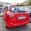 Our Ford B-Max. Small, but fun to drive with a very useful van style side door for loading luggage.
