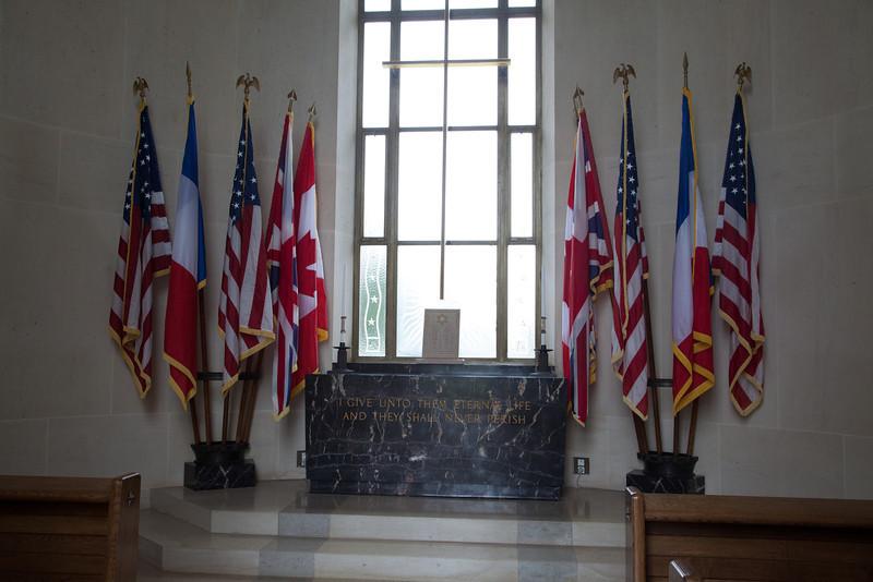 Inside the memorial chapel.