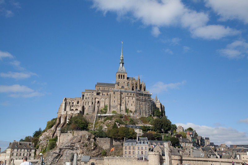 As we left, the clouds had parted giving a spectacular view of Mont Ste. Michel.