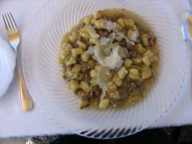 Montalcino: Poggio Antico (Gnochetti with Lamb Ragu)