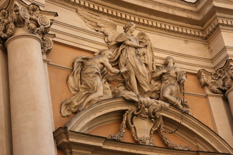 Rome: Frieze on Building on Via Condotti