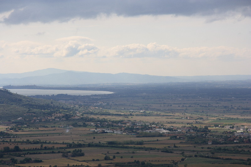 Cortona: View of Lago Trasimeno