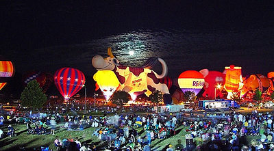 Plano Balloon Festival - Balloon Glow Under a Full Moon Want to buy a print of this image?  Click Here!