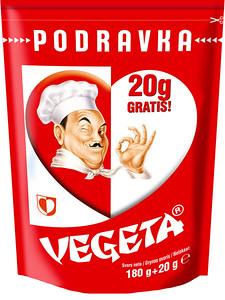 266299 PODRAVKA Vegeta 180g + 20g Gratis 3850104236143