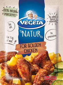 267899 PODRAVKA Vegeta Natur maitseaine kuldsele kanale 20g 3850104083228
