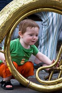 Boy in Sousaphone