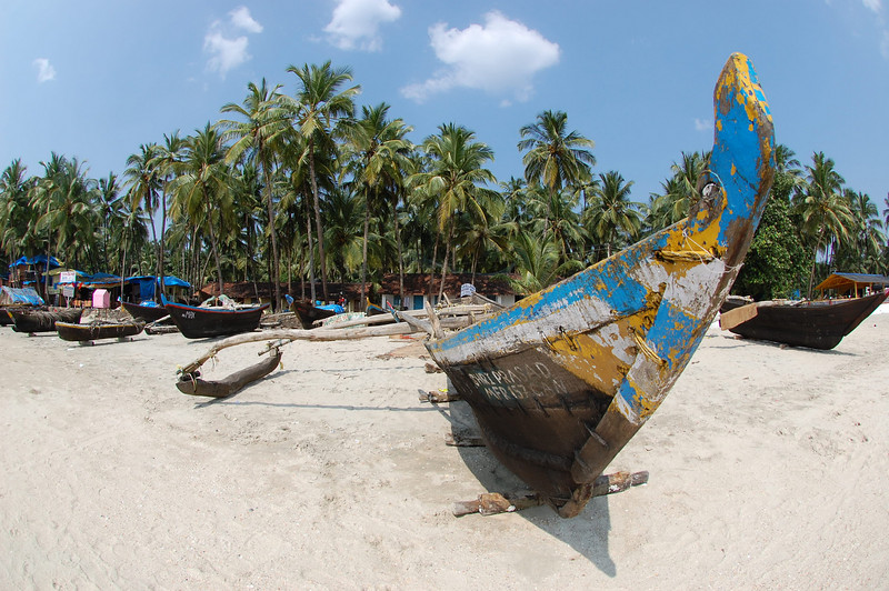 Fishing boat - Palolem beach, Goa