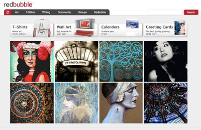 Featured on RedBubble.com's home page    Art Deco/Art Nouveau Theme - Flapper photograph at top right.   Red Bubble is a community of artists - photographers, printmakers, painters, etc..