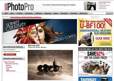 "Finalist in Digital Photo Pro's ""Ultimate Creativity Contest"" - open to photographers worldwide."
