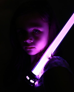 Little Girl with a lightsaber