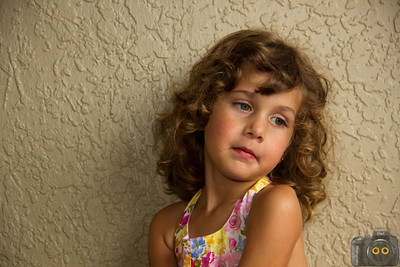 Portrait of a Little Girl with brown hair.