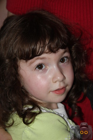 Portrait of a Little Girl with black hair.