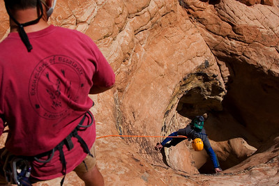 Canyoneers going Down!!!  I like to say Images Courtesy of GPH Photography, Access through Excursions of Escalante.