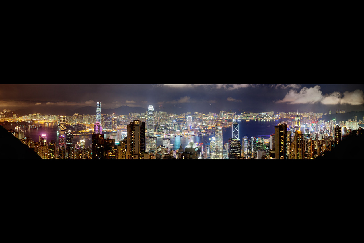 hong kong peak panorama b