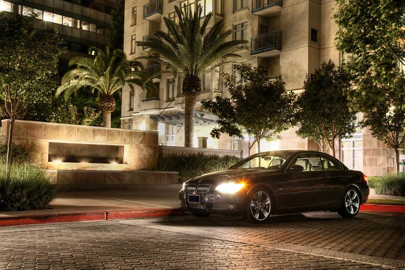 BMW 335i convertible night