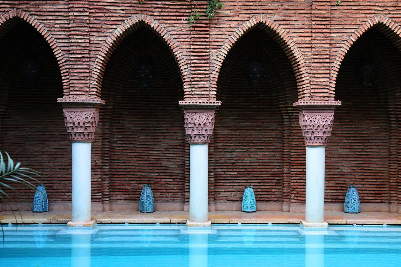 la sultana pool, marrakech morocco