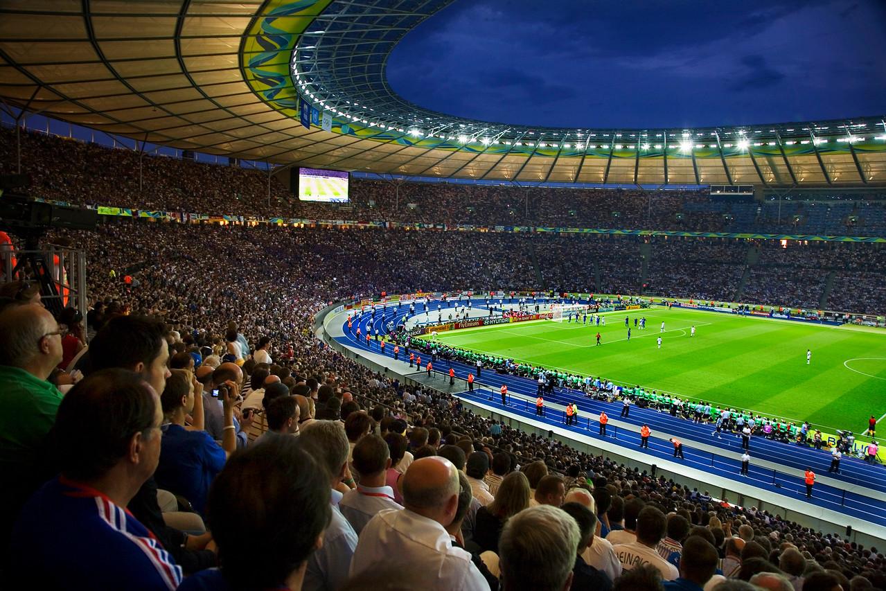 Football World Cup Final in Berlin. Copyright 2006. Simon Tong.