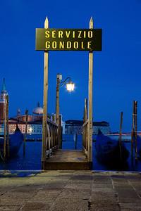 venice gondola sign