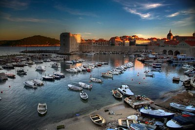 old town harbour dubrovnik croatia