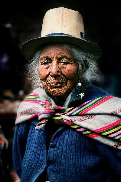 feisty old woman wiracocha peru