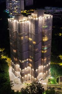 cocooned skyscraper hong kong
