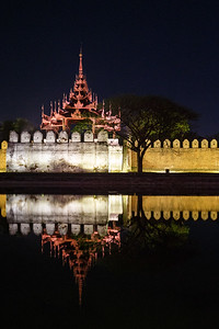 Royal palace in Mandalay, Myanmar