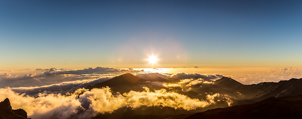 Sunrise over Haleakalā National Park Maui, Hawaii