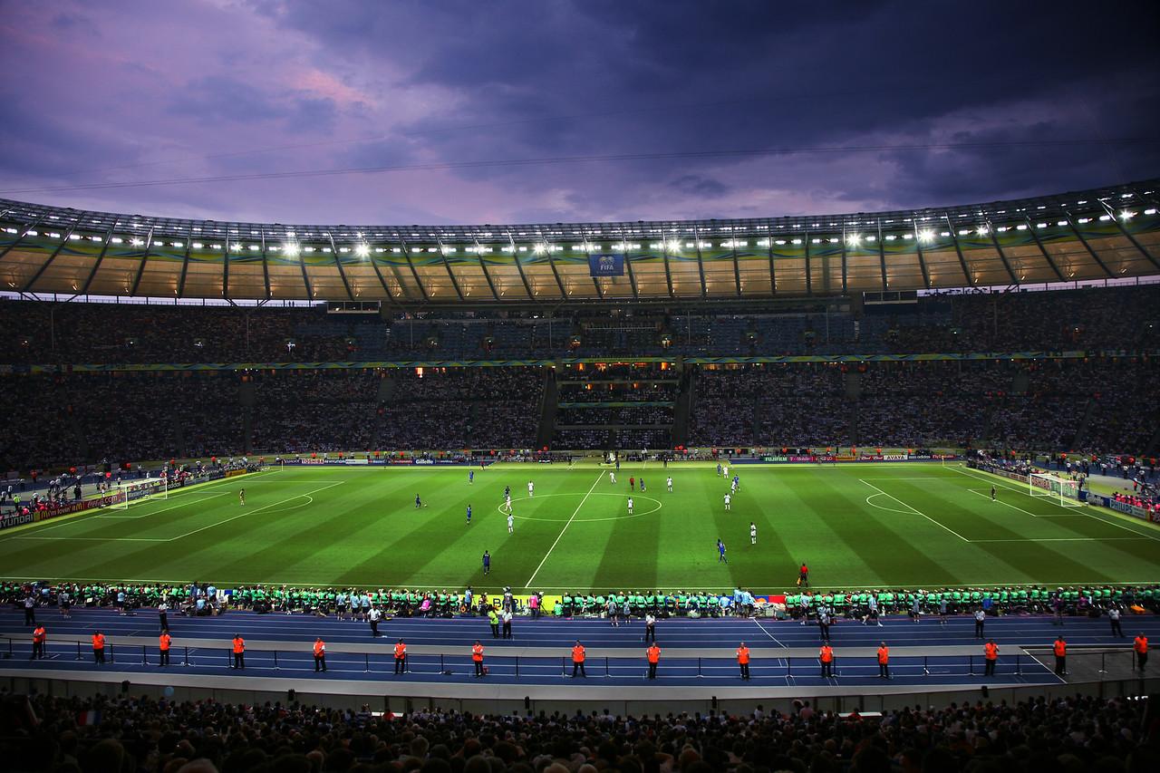 World Cup Final at night. Copyright 2006. Simon Tong.