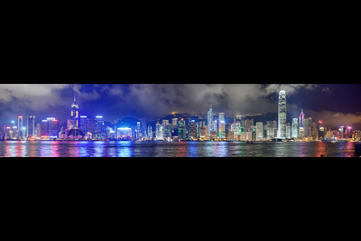 hong kong skyline panorama b