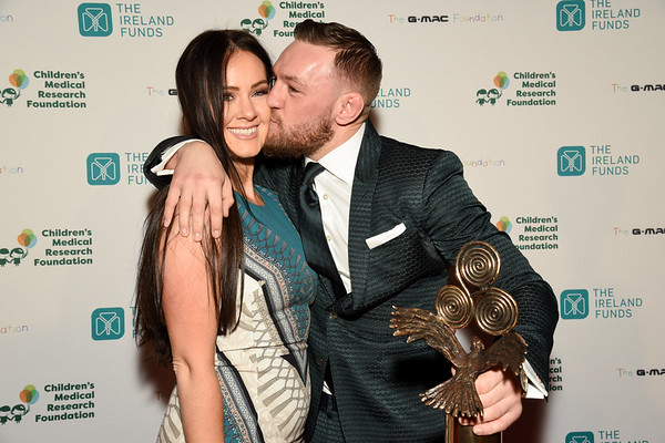 Conor McGregor with girlfriend Dee Devlin at The Best of Ireland Gala NYC, 2018 Photo: James Higgins ©2020