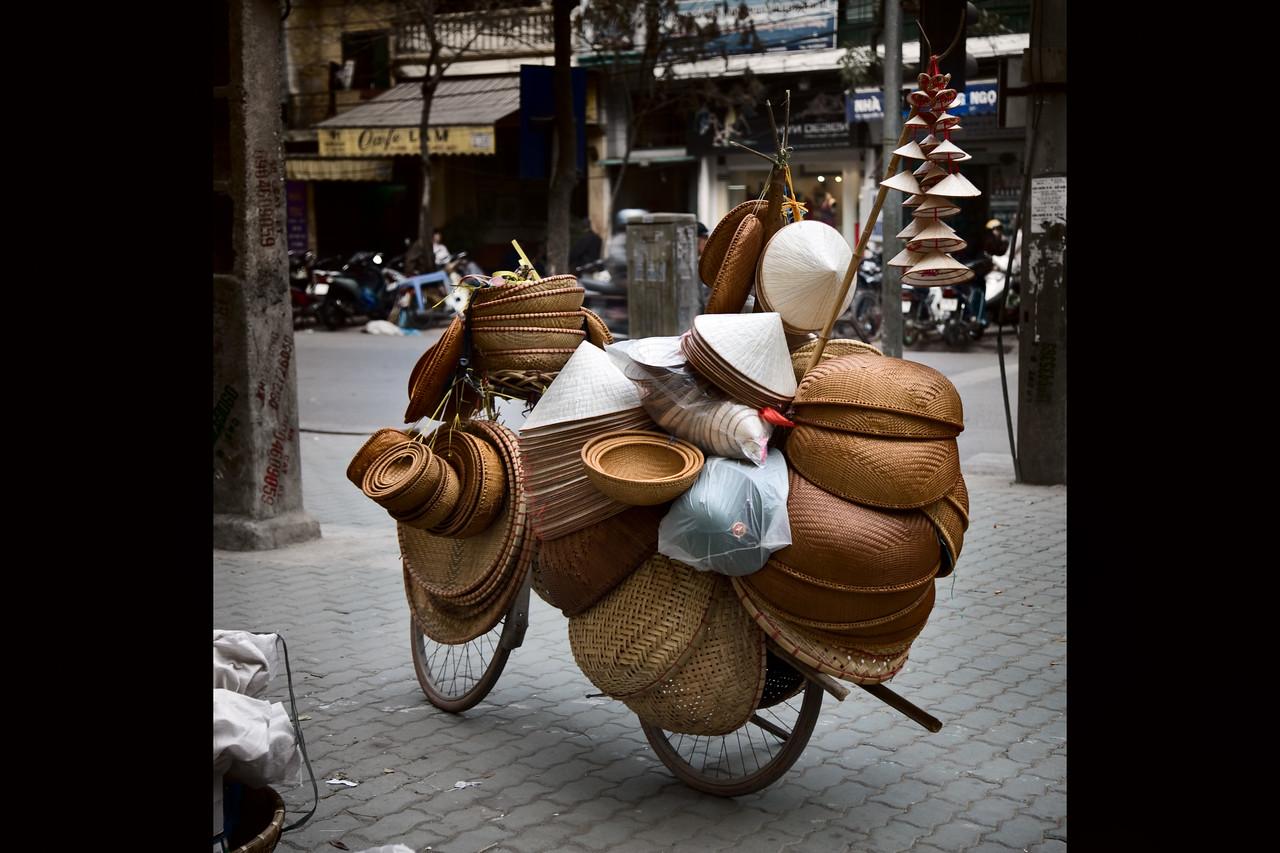 hat bicycle hanoi vietnam
