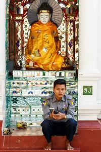 Policeman in Yangon, Myanmar