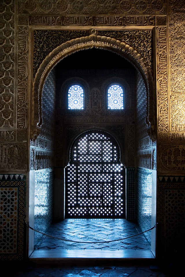 face window alhambra granada spain